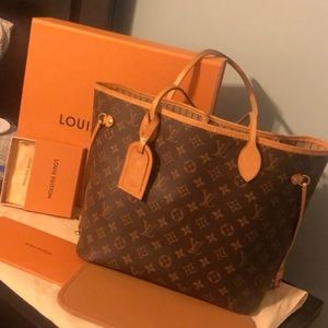 Louis Vuitton Neverfull MM with Luggage Tag✨